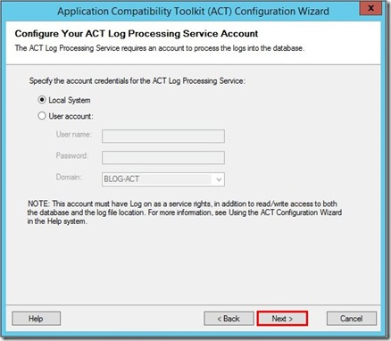 Configuration ACT (5)