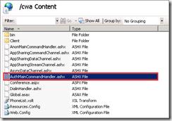 Configurer la page AuthMainCommandHandler.ashx